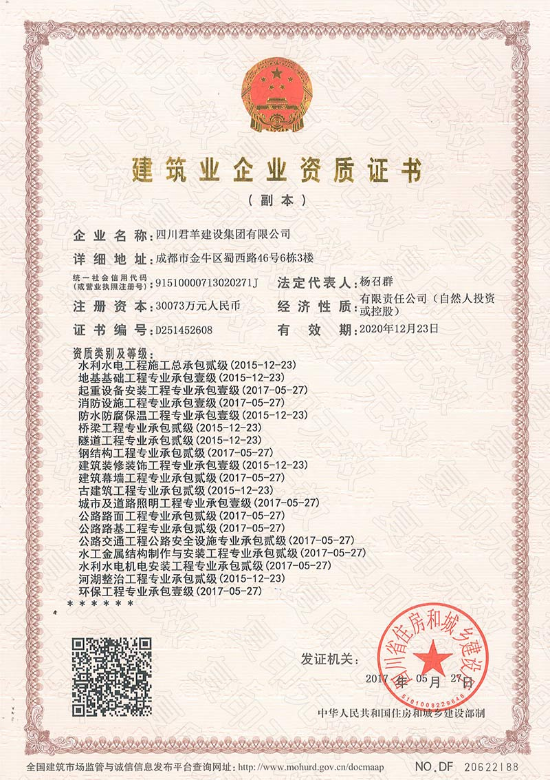 四川人事人才培训网_建筑业企业资质证书